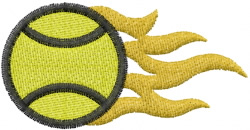 Tennis 15 embroidery design