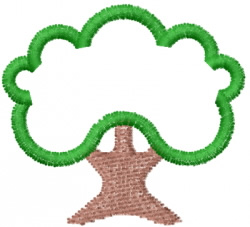 Trees 43 embroidery design