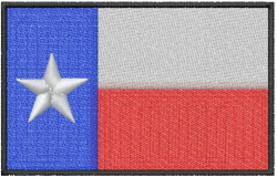 Texas flag and banner embroidery design