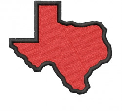 State of Texas embroidery design