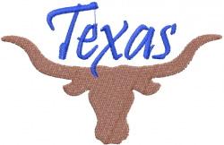 Texas Longhorn embroidery design