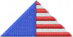 Patriotic Triangle embroidery design