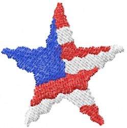 USA Star 1 embroidery design