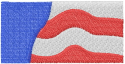 USA Banner 1 embroidery design