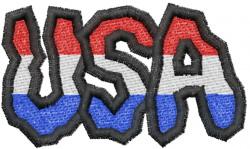 USA  Graffiti embroidery design