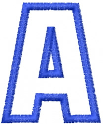 USA Letters 20 embroidery design