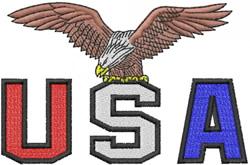USA – WITH EAGLE embroidery design