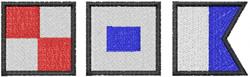 USA – NAUTICAL FLAGS embroidery design