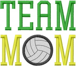 VOLLEYBALL TEAM MOM 1 embroidery design