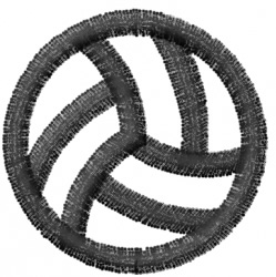 Volleyball 3 embroidery design