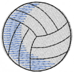 Volleyball 8 embroidery design