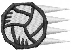 Volleyball 18 embroidery design