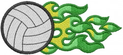 Volleyball 31 embroidery design