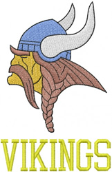 VIKING HEAD – BLOCK LETTERS embroidery design