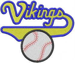 Viking Baseball embroidery design