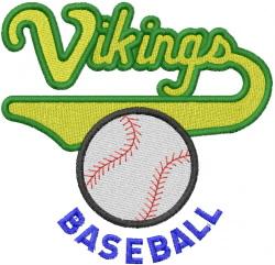 Vikings Baseball embroidery design