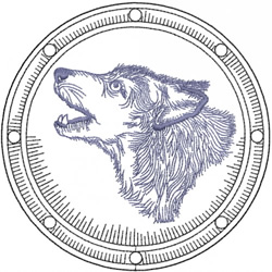 WOLF HEAD 1 – CELTIC SHIELD embroidery design
