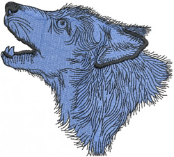 WOLF HEAD 1 – SOLID FILL embroidery design