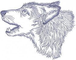 WOLF HEAD 1 – OUTLINE embroidery design