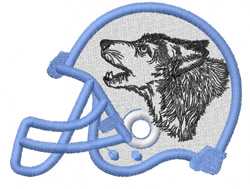 WOLF HEAD 1 – FOOTBALL HELMET embroidery design