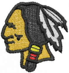 Warrior 1 embroidery design