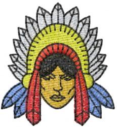 Warrior 5 embroidery design