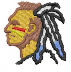 Warrior 9 embroidery design