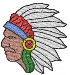 Warrior 13 embroidery design