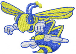 Wasp 3 embroidery design
