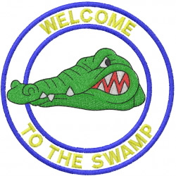 GATOR HEAD 1 – WELCOME TO THE JUNGLE embroidery design