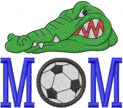 GATOR HEAD SOCCER embroidery design