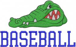 GATOR BASEBALL embroidery design