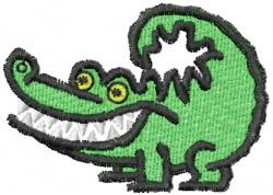 Grinning Alligator embroidery design