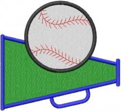 BASEBALL MEGAPHONE embroidery design