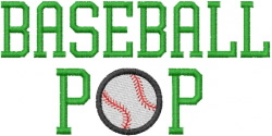 BASEBALL POP embroidery design