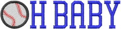 BASEBALL Oh Baby embroidery design