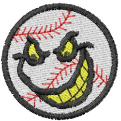 Evil Baseball embroidery design