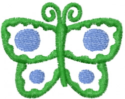 Butterfly 21 Verde embroidery design