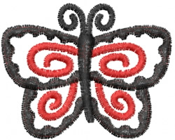 Butterfly 27 Night Wing embroidery design