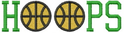BASKETBALL HOOPS embroidery design