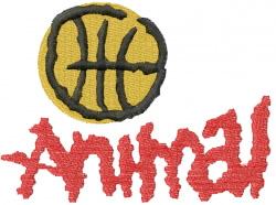 BASKETBALL ANIMAL embroidery design