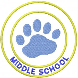 BEAR PAW 2 – DOUBLE CIRCLE – MIDDLE SCHOOL embroidery design