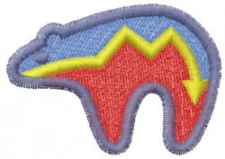 Pueblo Bear embroidery design