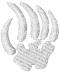 Bear Paw Petroglyph embroidery design