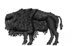 Bison - Mini Silhouette embroidery design