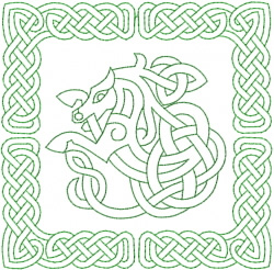Celtic Knot Square 18 embroidery design