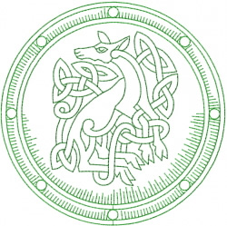 Celtic Deer Shield embroidery design
