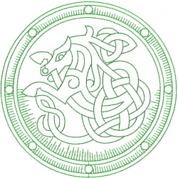 Celtic Horse Shield embroidery design