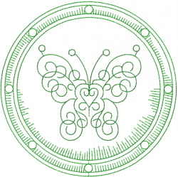 Celtic Butterfly Shield embroidery design