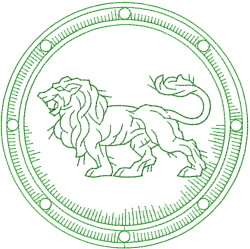 Celtic Lion Shield embroidery design